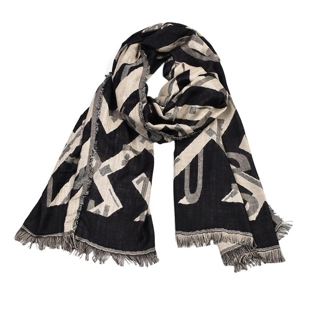 Men's Scarf Winter Tassels Letter Warm Fashion-Design Cotton Thick Newest 90cm--175cm