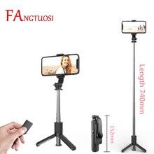 Fangtuosi 2021 Nieuwe 152Mm Super Mini Bluetooth Selfie Stok Statief Handheld Monopod Met Afstandsbediening Sluiter Palo Selfie
