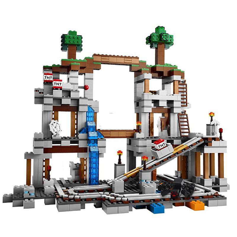 Self Locking Brick Minecraft Blocks 922Pcs The Mine My World Figures Set Building Block Toys For