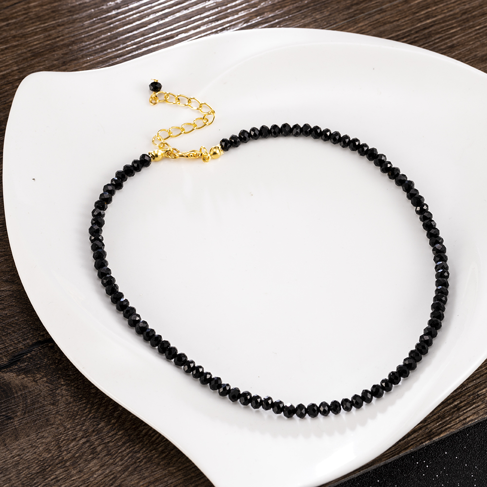 Charm Women Black Crystal Clavicle Choker Necklace Pendant Party Jewelry Gift Statement Necklace