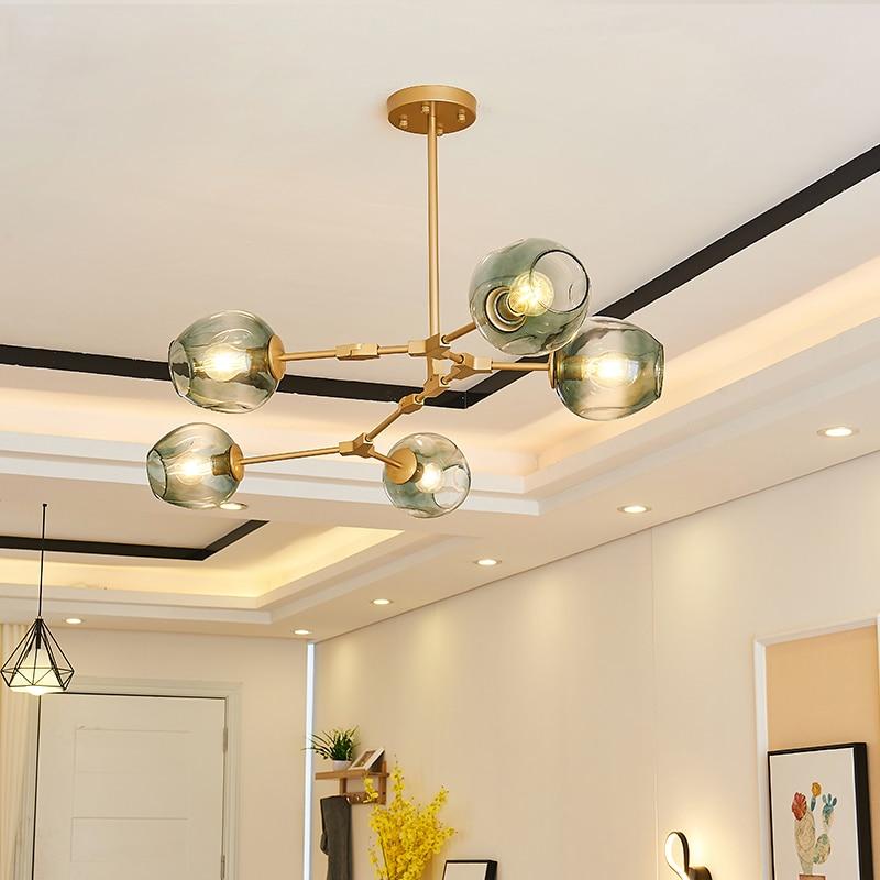 cheapest Vintage Loft Industrial Nordic Chandelier For Dining Kitchen Stair Black gold Suspension Luminaire Modern Chandelier Lighting