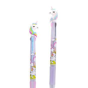 unicorn 3 color ball pen lovely multicolor Ballpoint Pen multifunctional color pen School supplies Office Stationery ballpoint pen duke new music note ladies signature ball point pen 3 colors to choose office and school stationery free shipping