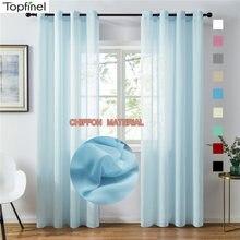 Topfinel прозрачные шторы для гостиной спальни шифон тюль занавески