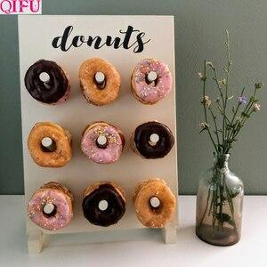 Image 1 - Soporte de pared de Donut para decoración de cumpleaños, suministros de fiesta de donuts, mesa de Decoración de cumpleaños, evento de boda para Baby shower
