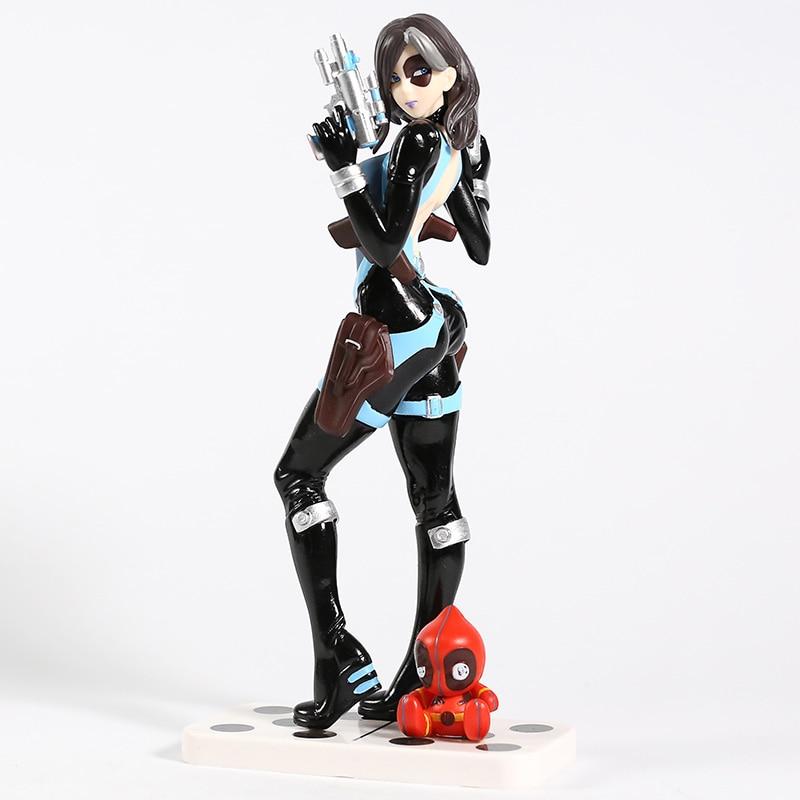Marvel X-Men Domino Neena Thurman Bishoujo 1/7 Scale PVC Figure Collectible Model Toy