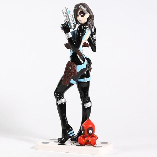 X Men Domino Neena Thurman Bishoujo 1/7 Scale PVC Figure Collectible Model Toy