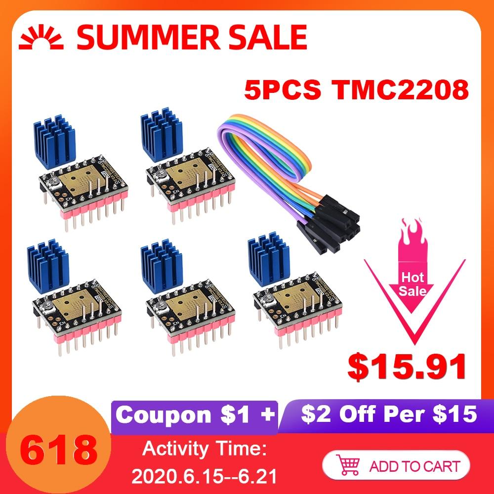 BIGTREETECH TMC2208 V3.0 Драйвер шагового двигателя UART VS TMC2209 TMC2130 для SKR V1.3 SKR V1.4 Turbo Ramps 1,4 части 3D принтера|Детали и аксессуары для 3D-принтеров|   | АлиЭкспресс - Комплектующие к CNC/3D Print (ЧПУ и 3D принтеры)
