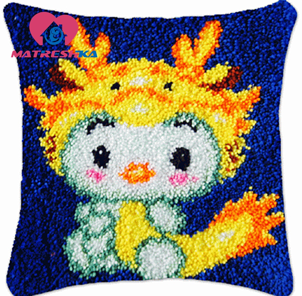 Cross-stitch pillow latch hook kits embroidery carpet cushions do it yourself embroidery pillow Foamiran for crafts home Gift