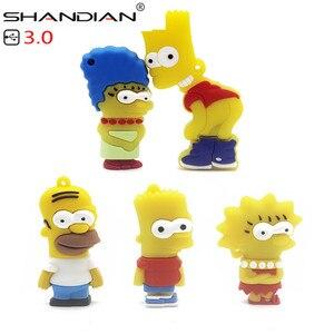Image 5 - Shandian usb 3.0 バートシンプソンマウスウルフ 4 ギガバイト 8 ギガバイト 32 ギガバイトメモリスティックuディスクペンドライブホーマーペンドライブusbフラッシュドライブ