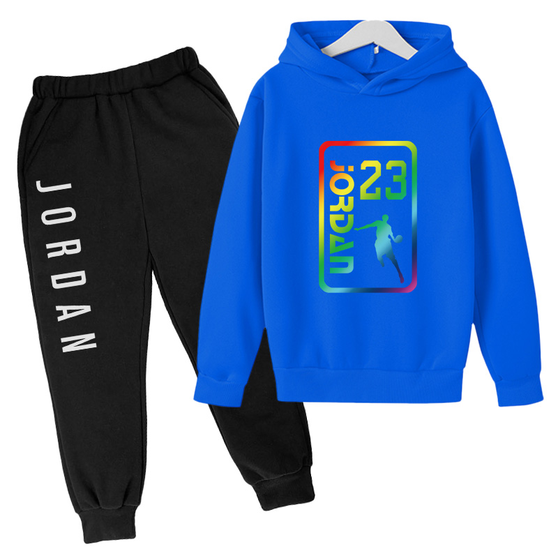 boy girl clothes set pullover hoodie sportswear 23 basketball uniform track suit loose casual fashion Sweatshirt jogging suit