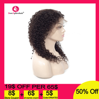 13*4 Lace Front Human Hair Wigs Pre Plucked 150% Density Burmese Remy Kinky Curly Human Hair Wig for Black Women 10 22 Inch