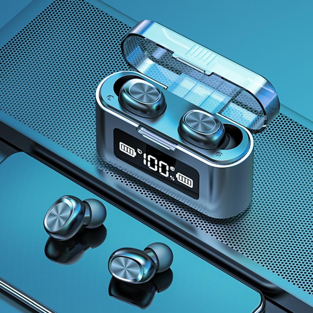 Беспроводные Bluetooth-наушники с микрофоном, спортивные водонепроницаемые музыкальные наушники-вкладыши с сенсорным управлением для телефон...