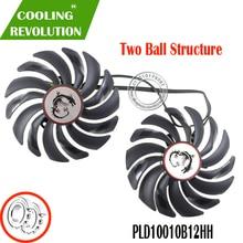 2PCS PLD10010B12HH DC12V 0.40A 4PIN FOR MSI GTX1080Ti 1080 1070 1060 RX470 480 570 580GAMING Graphics Card Cooler Fans PLD10010S