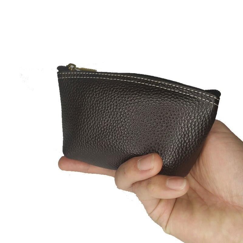 Gerçek deri çanta kız cüzdan çocuklar hakiki inek derisi kadın siyah bozuk para kesesi erkekler kart tutucu kırmızı anahtar kapak Dropshipping toptan