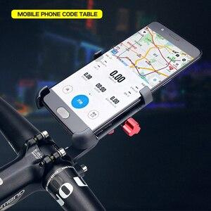 Image 5 - Promend אלומיניום סגסוגת אופני טלפון נייד מחזיק מתכוונן אופניים טלפון מחזיק החלקה MTB טלפון Stand רכיבה על אופניים אבזרים