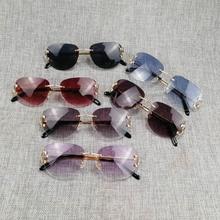 Wholesale Rimless Oval Sunglasses for Men Women Accessories Metal Frame Gafas Oculos Shade for Outdoor Beaching Driving развивающий коврик felice волшебный дуб 95 х 95 см