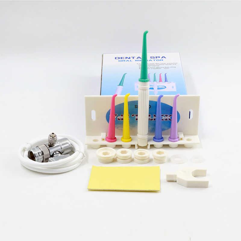 Kran woda nić dentystyczna irygator doustny Jet szczoteczka międzyzębowa ząb SPA Cleaner wybielanie zębów szczoteczka do czyszczenia