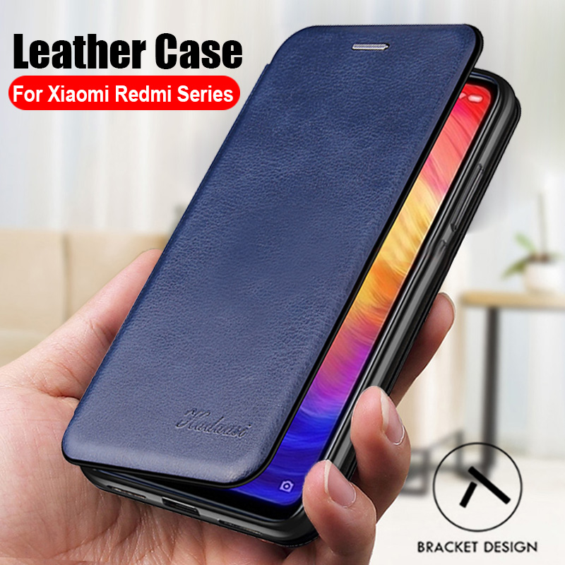 Luxury leather flip phone case for xiaomi redmi note 9s 8t 7 8 not 9 pro 9a 7a 8a cases cover on xiomi mi 9 lite a3 wallet coque(China)