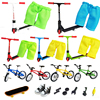 Finger scooter skateboard shoe accessories Set Two Wheel Skate clothes Fingerboard Bikes Fingertip Novelty Toys scooters child