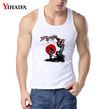 YIHAIFA Men Gyms Clothing Floral Goku Printed Singlet Bodybuilding Tank Top Men Fitness Shirt Sleeveless Workout Vest Tanktop(China)