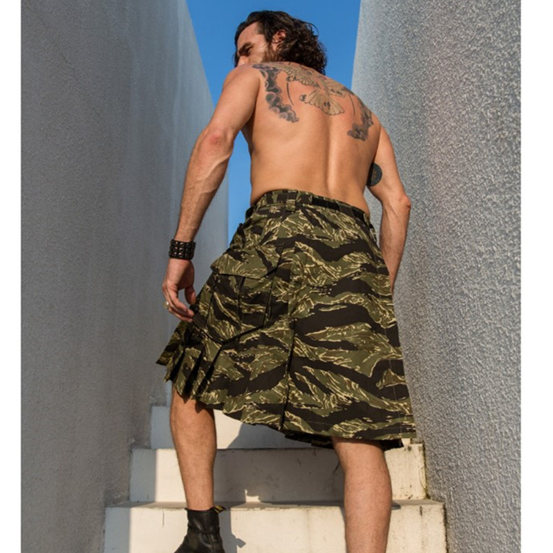 Men's Plaid Scottish Tactical Skirt Camouflage Anti wear Outdoor Camping Hiking Combat Scotland Male Sports Camo Trekking Shorts-in Hiking Shorts from Sports & Entertainment    2