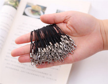100 pcs/lot Black Cell Phone Lanyard Cords Strap Lariat Mobile Lobster Clasp 1HWH hand lanyard strap camera rope