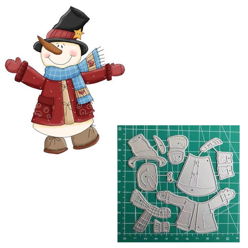 Snowman Christmas Cutting Dies 2019 Vintage Scrapbook Album Die Cutting Supplies For Card Making
