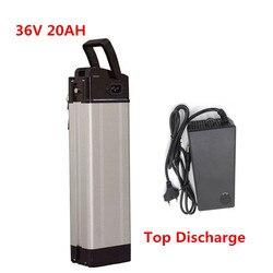 36V 20ah Zilveren vis Top discharge Li Ion Lithium batterij Elektrische Fiets batterij 36v 350W 500W 1000W 1500W-in Elektrische Fiets batterij van sport & Entertainment op