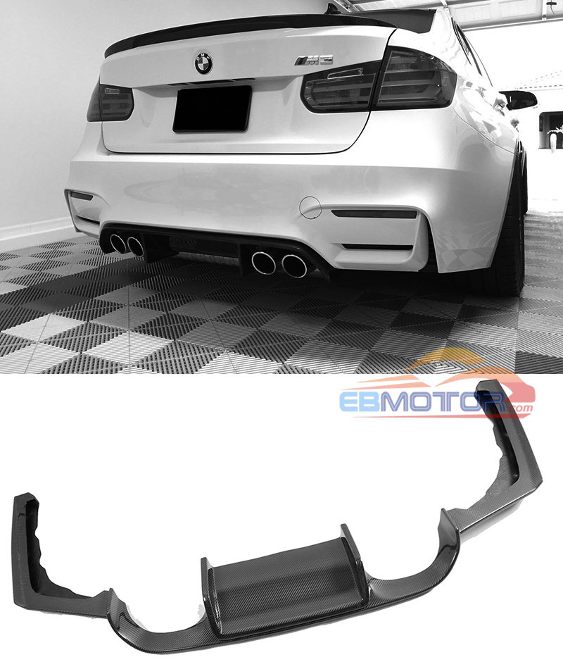 Real carbon fiber Rear lip Diffuser For BMW F80 M3 F82 M4 2014UP B427 image