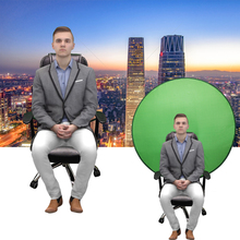 Green Screen Backdrops Photography Background Portable Fold Reflector for Live broadcast YouTube Video Studio Round 142cm 56inch