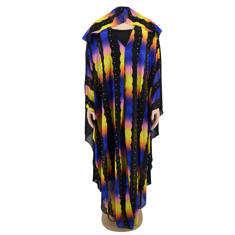 Autumn Long Sleeve African Dresses For Women Africa Clothing Muslim Long Dress High Quality Length Fashion African Dress Lady