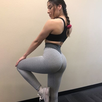 SALSPOR 3D Mesh Knitting Yoga Pants Women High Waist Push Up Seamless Sport Legging Gym Tights Quick Dry Running Fitness Pants 4