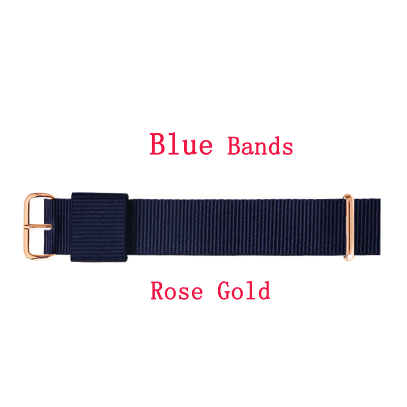Top Brand Quality Luxury Ladies Watches 18 Mm 20 Mm Nylon Silver Rose Gold Lovers Men Women Watch Strap Gift Relogio Feminino