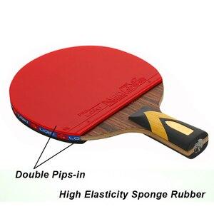 Image 5 - LOKI 6 yıldız profesyonel masa tenisi raketi abanoz karbon masa tenisi raketi hızlı saldırı Ping Pong raket ark Ping Pong raketleri