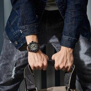 Image 5 - MEGIR Creative Wristwatch Man Watch Waterproof Leather Mens Watches Top Brand Luxury Chronograph Sport Watch Relogio Masculino