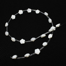 20pcs/bar Natural Ocean Shell Pendant Charm Carving Flower White Shell Pendant Jewelry Making DIY Necklace Bracelet Accessories(China)