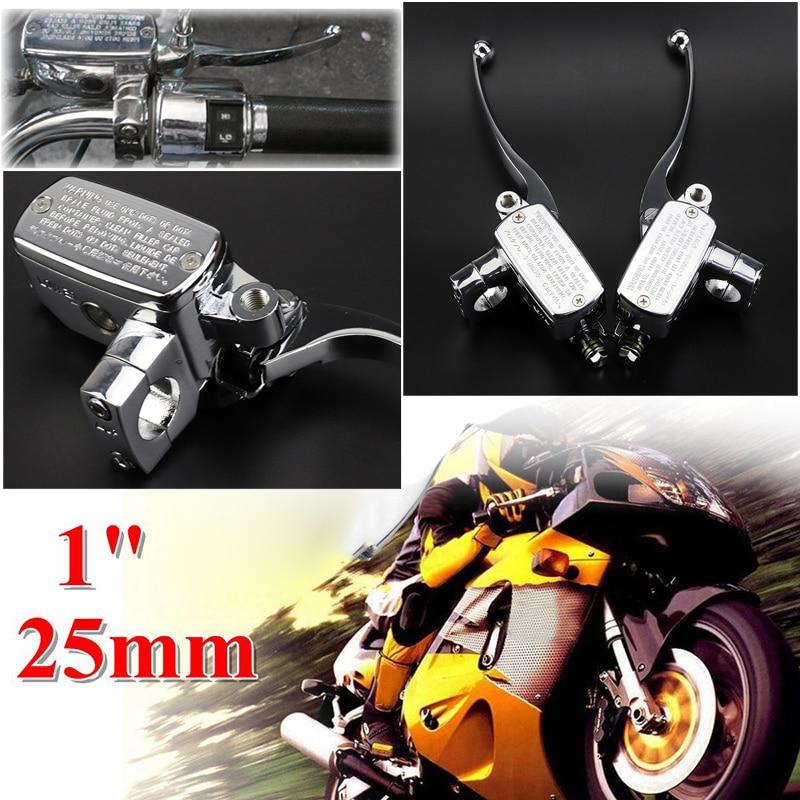 1 Pair Universal Motorcycle  Accessories Brake Master Cylinder Clutch Pump  Levers For Suzuki Intruder 800 1400 1500