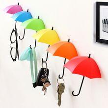 Non-marking punch-free umbrella hook self-adhesive hook wall door clothing hanger key debris hook bathroom kitchen sticky rack