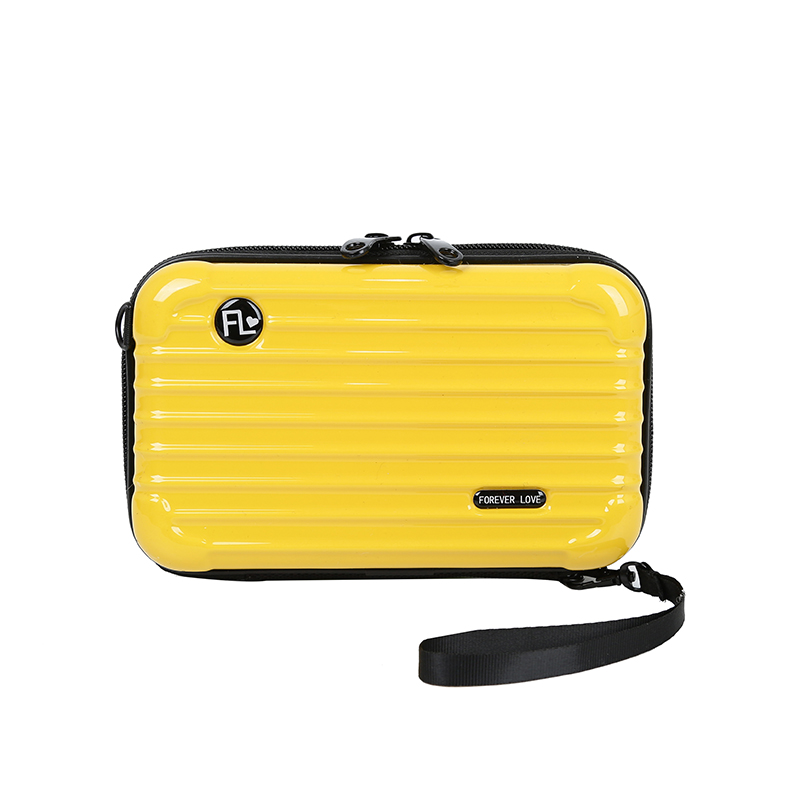 New personality mini luggage suitcase fashion Designer hard shell small square box bag Shoulder bag women Purses And Handbags in Top Handle Bags from Luggage Bags