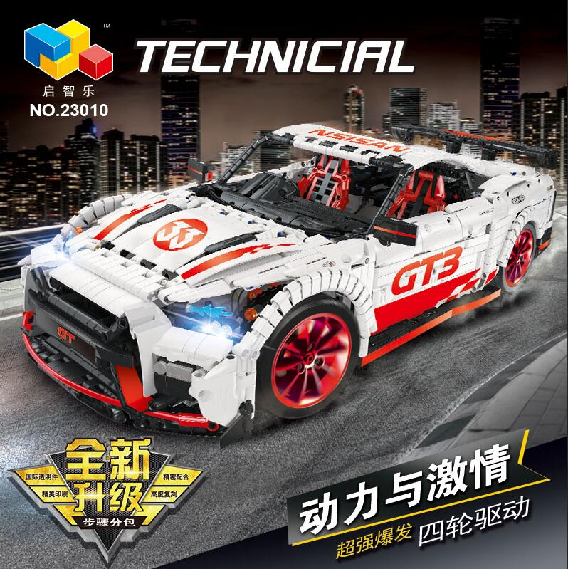 Technic Series The Nismo Nissan GTR GT3 Speed Racing Sport Car Model Kit Building Blocks Bricks Kids Toys Fit Legoed Moc-25326