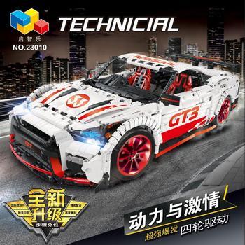 цена на Technic series The Nismo Nissan GTR GT3 Speed Racing Sport Car Model Kit Building Blocks Bricks Kids Toys Fit lepining Moc-25326