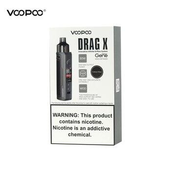 VOOPOO Drag X – Kit de cigarette électronique avec batterie 18650, 80W, cartouche de 4.5ml, avec bobine PnP-VM6 pnp-vm1