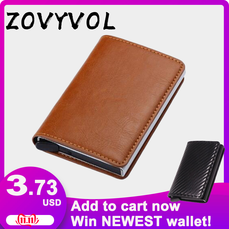 ZOVYVOL Anti Wallet Men Money Bag Slim Mini Purse Male Aluminium Rfid Card Holder Thin Small Smart France