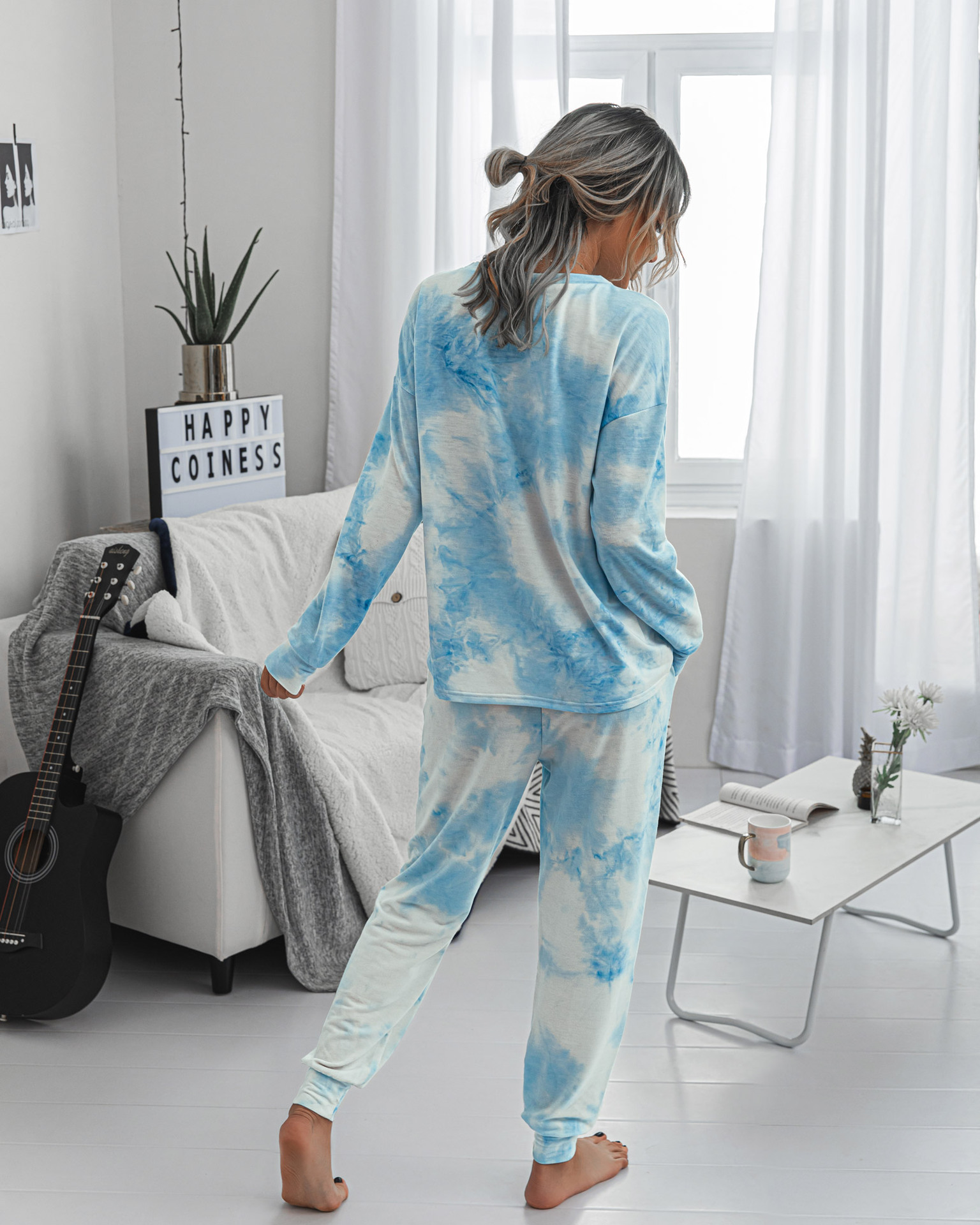 Осень зима 2020 Модный женский повседневный костюм с принтом