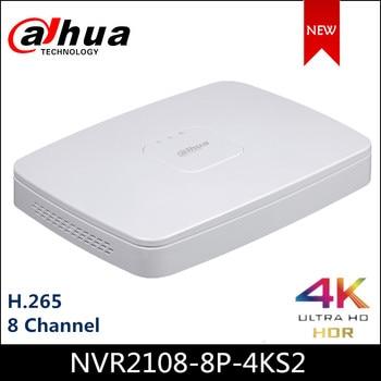 Dahua POE NVR NVR2108-8P-4KS2 8 채널 Smart 1U 8PoE Lite 4K H.265 네트워크 비디오 레코더