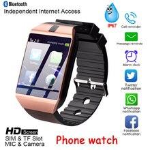 Последние DZ09 Bluetooth Смарт-часы для мужчин и женщин камера Sim слот TF карты вызова водонепроницаемые мужские часы Android и IOS системы