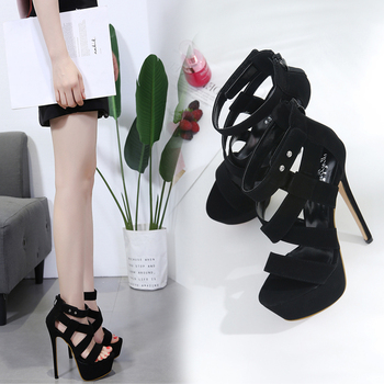 Ladies High Heels 18cm Heel Sandals Female Wedding Party Shoes Summer New Gladiator Sandals Pretty High Heels Girls image