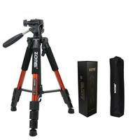 Professional Camera Tripod Stand Aluminum Gorillapod Portable Travel Tripod with Pan Head For Camera DSLR SLR Live Tripods Zomei