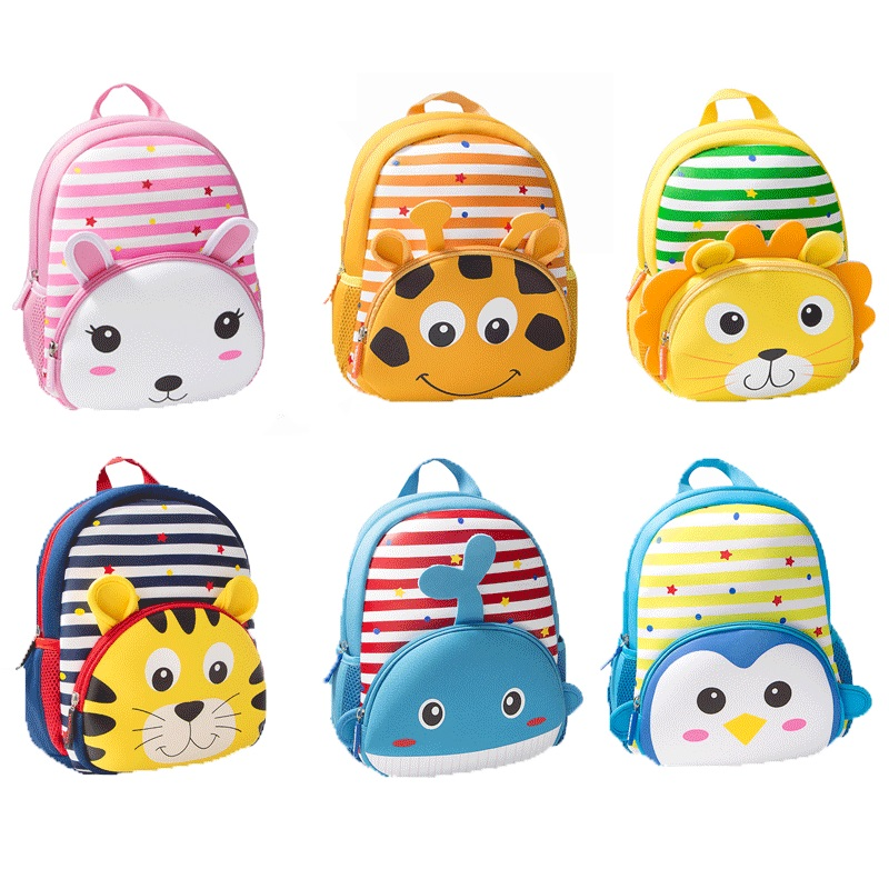 2019 New Toddler Kid Boy Girl 3D Cartoon Animal Backpack Children Cute Nursery Kindergarten School Bag Rucksack