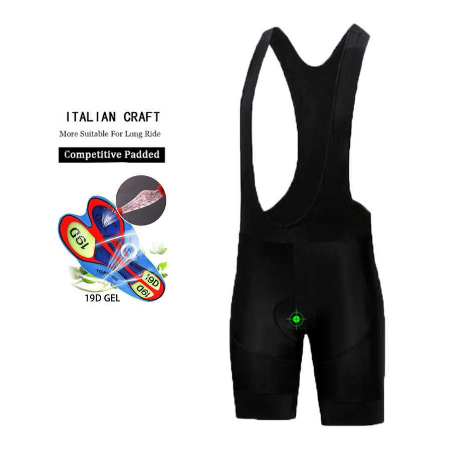 2020 siyah kaya bisiklet forması 9D pad şort bisiklet kıyafeti set ropa ciclismo hızlı kuru mens pro bisiklet Maillot Culotte